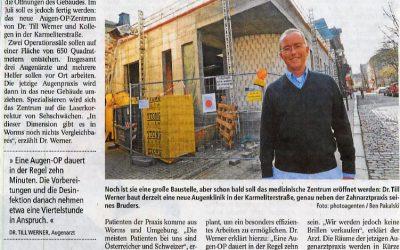 Wormser Zeitung berichtet über Neubau